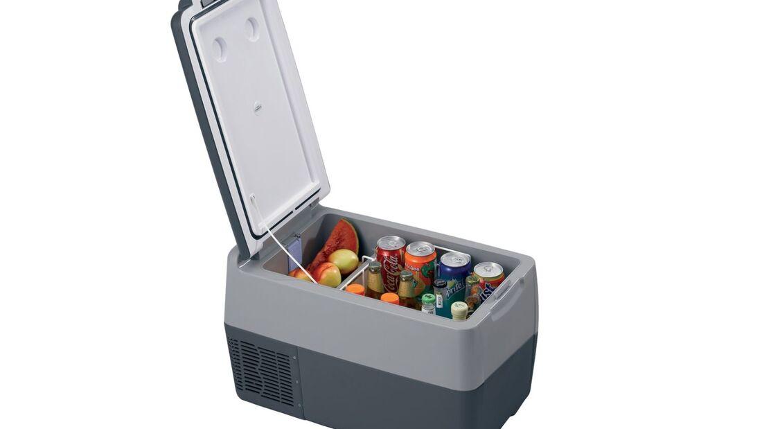 Webasto präsentiert auf dem Caravan Salon erstmals Camping-Produkte: Den Anfang macht der Kühlschrank Travel Box.