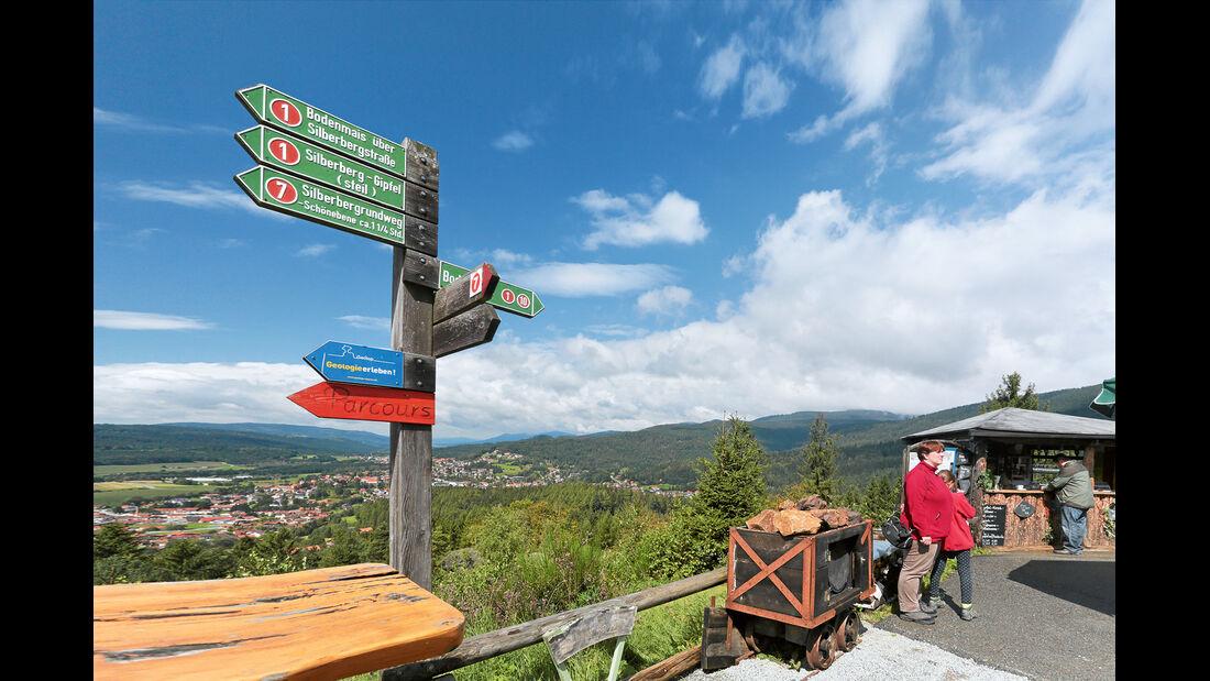 Wegweiser im Bayerischen Wald