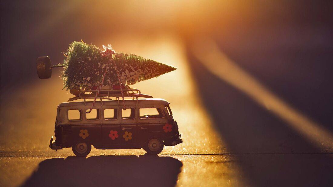Weihnachten, Bulli, Weihnachtsbaum