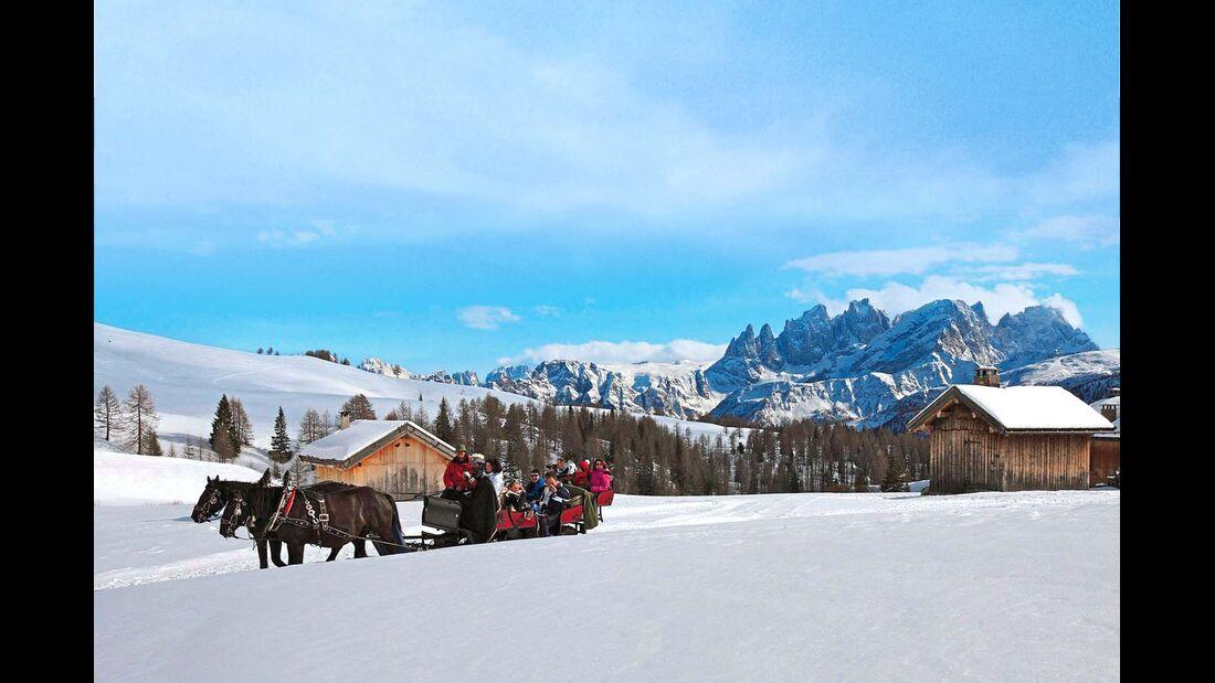 Wenn's richtig Schnee gibt, geht nichts über eine Fahrt mit dem Pferdeschlitten