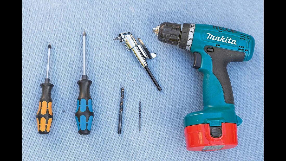 Werkzeuge und Materialien.