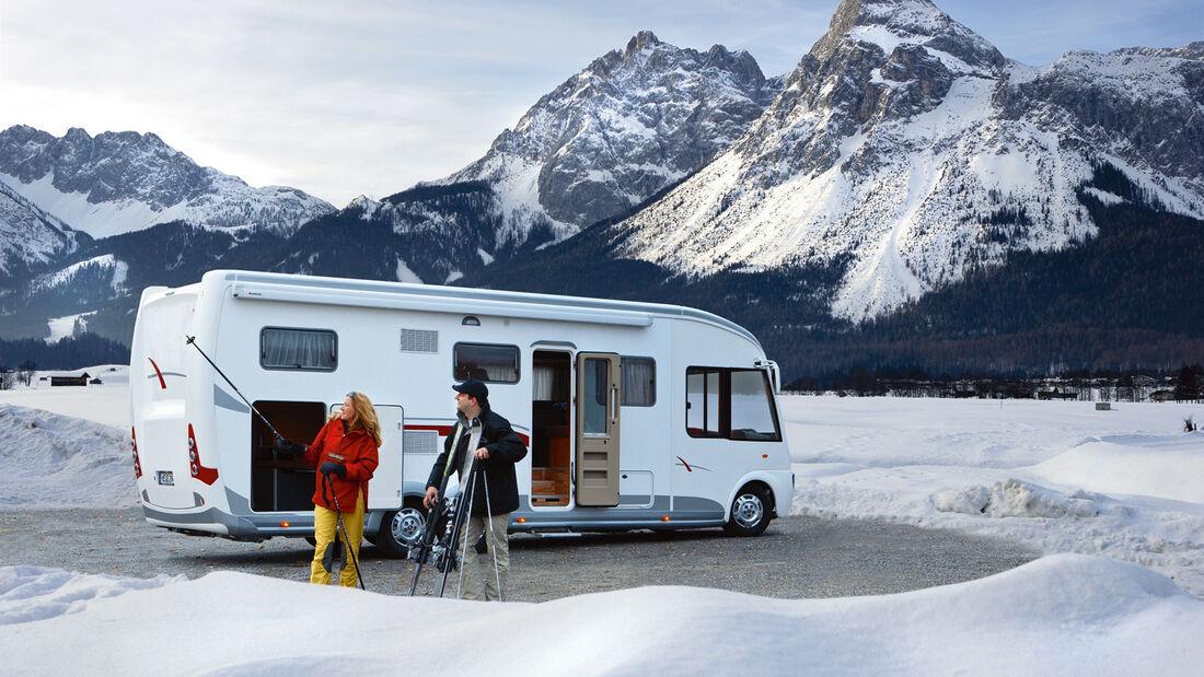 Wintercamping mit dem Wohnmobil
