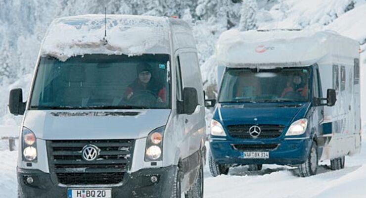 Winterreifen, europa, Reisemobil, wohnmobil, caravan, wohnwagen