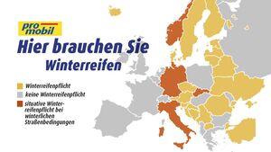 Winterreifenpflicht Europa