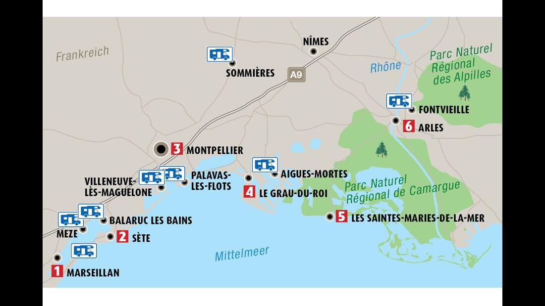 Wohnmobil-Reise nach Südfrankreich Carmargue