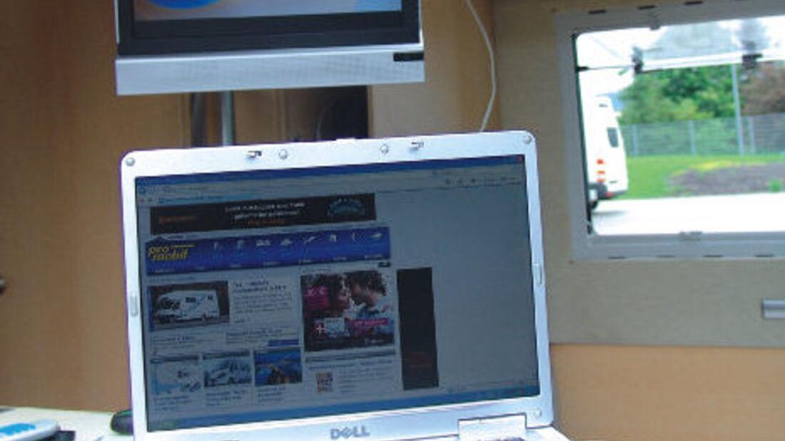 Wohnmobil Satellit Internet Web TV Fernsehen Reisemobil