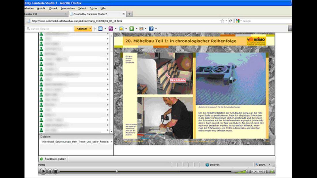 Wohnmobil Selbstausbau Webinar Möbelbau
