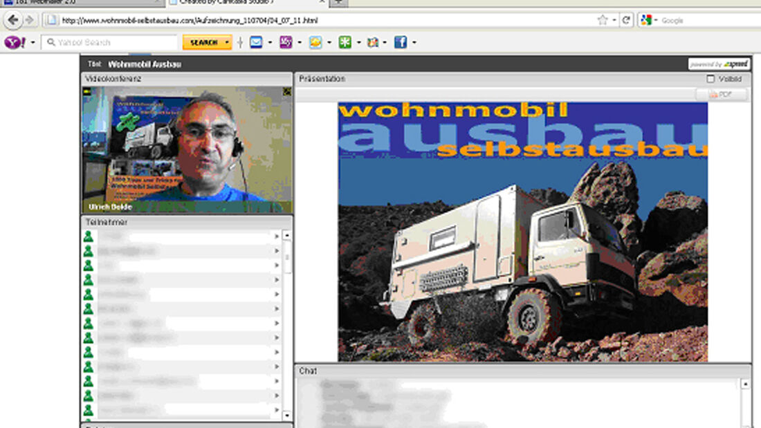 Wohnmobil-Webinar mit Ulrich Dolde