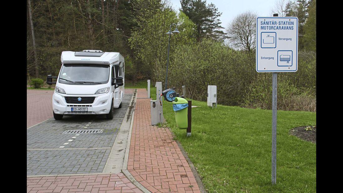 Wohnmobilpark Havelberge Ver- und Entsorgungssation