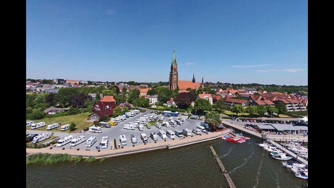 Wohnmobilstellplatz am Stadthafen Schleswig