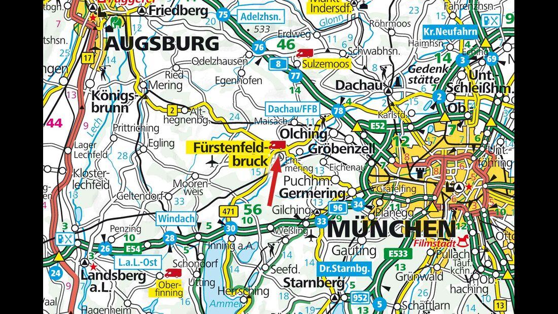 Wohnmobilstellplatz an der AmperOase in Bayern