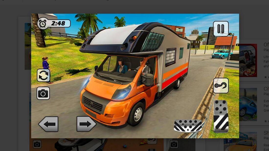 Wohnwagen fahren Beach Resort Wohnmobil