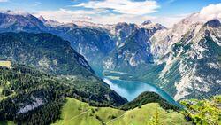 Wonderful view in the Bavarian Alps. Berchtesgadener National Park, Bavaria, Germany