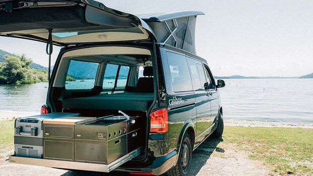 calibox - modular - camping - ausbau - t5 t6 - california beach - multivan