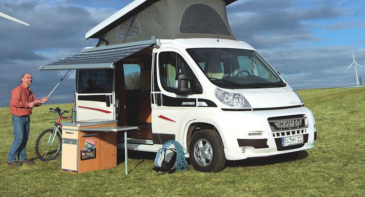 hymer bringt campingbus car 302 mit aufstelldach. Black Bedroom Furniture Sets. Home Design Ideas