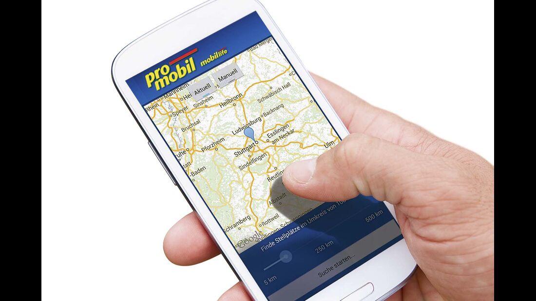 promobil-App Stellplatz-Radar
