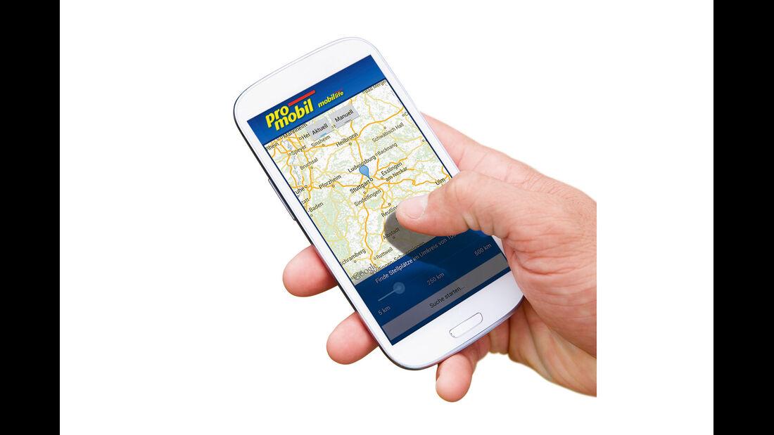 promobil Stellplatz-App mobil life für Apple & Android